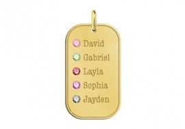Geboortesieraad van Goud Vijf Namen Names4ever