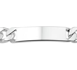 Gourmet Graveer Armband van Zilver 22cm