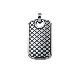 Edelstalen Dog Tag Hanger met Patroon