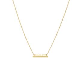 Geelgouden Anker Collier met Bar Hanger + Verlenging naar 55cm