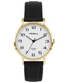 Goudkleurig Heren Horloge met Witte Wijzerplaat en Horlogeband