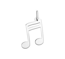 Muzieknoot Hanger van Zilver