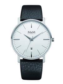 New Classic Heren M&M Horloge met Witte Wijzerplaat