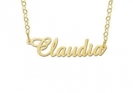 Names4ever Vergulde Claudia Naamketting