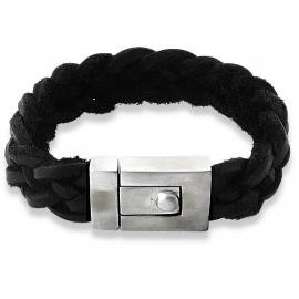 Zwart Lederen Armband voor Mannen