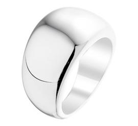 Zilveren Ring met Brede Voorkant / Ringmaat 19