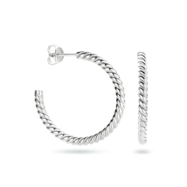 Zilveren Stekeroorringen van 3 mm / 32 mm