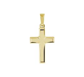 Kruis Hanger van Gepolijst Geelgoud