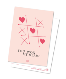 You won my heart – Valentijnskaart