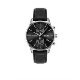 Hugo Boss Horloge Associate Zilverkleurig Horloge met Zwarte Wijzerplaat van Boss