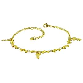 Goudkleurige Sleutel Armband van Edelstaal