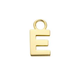 14K Geelgouden Oorringhanger met Letter E