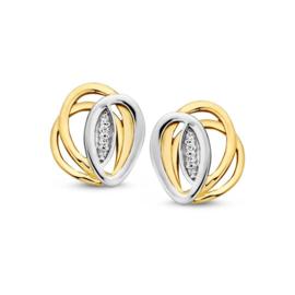 Excellent Jewelry Opengewerkte Bicolor Zirkonia Oorstekers