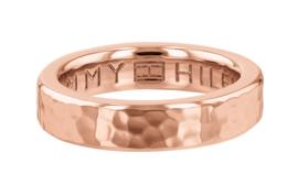 Gehamerde Roségoudkleurige Edelstalen Ring van Tommy Hilfiger