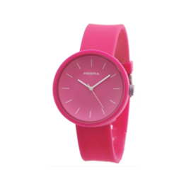 Prisma Roze Unisex Horloge met Roze Band