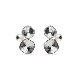 Zilveren Paraiso Oorbellen met Swarovski Kristallen van Spark