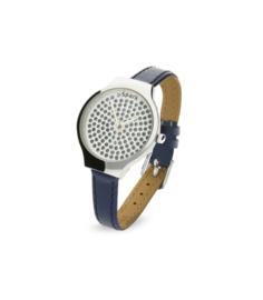 Swarovski Horloge met Blauw Lederen Horlogeband van Spark