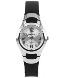 Elegant Kids Horloge van Edelstaal met Zwarte Horlogeband