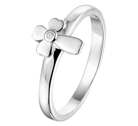 Kruis Ring van Gerhodineerd Zilver