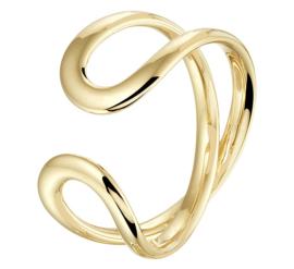 Geelgouden Ring met Dubbele Lus voor Dames