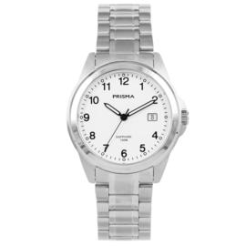 Fris Edelstalen Prisma Horloge voor Heren