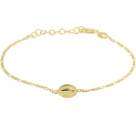 Goudkleurige Armband van Zilver met Scapulier Plaatje