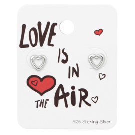 Zilveren Hart Oorstekers | Love is in the air