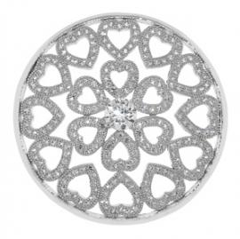 Cirkel munt met kleine hartjes / MY iMenso