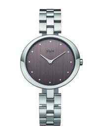 Zilverkleurig Dames Horloge met Luxueuze Schakelband van M&M