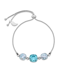 Armband van Spark Jewelry met Light Turquoise Swarovski Kristallen