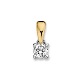 Excellent Jewelry Geelgouden Hanger met 0,30 crt. Briljant