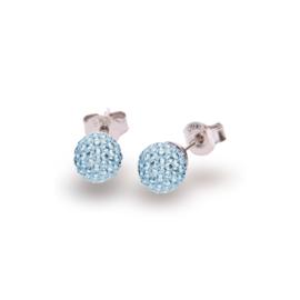 Lichtblauwe Pavé Swarovski Oorstekers van Spark Jewelry