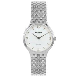Prisma Basic Dames Horloge met Zilverkleurige Schakelband