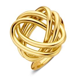 Excellent Jewelry Geelgouden Ring met Speels Ontwerp