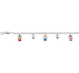 Kinderarmband met Meisjes Hangers
