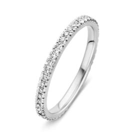 Excellent Jewelry Slanke Witgouden Ring met Briljanten 0,33 crt.