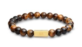 Essential Gold   Tijgeroog Kralen Armband van Blaauw Bloed
