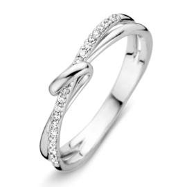 Excellent Jewelry Witgouden Dames Ring met Diamanten