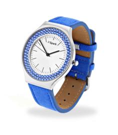 Centella Horloge met Felblauw Lederen Horlogeband van Spark