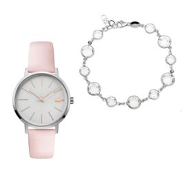 Lacoste Dames Horloge Gift Set + Gratis Armband t.w.v. € 34,95