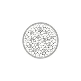 Zilveren Cover Munt van MY iMenso met Zirkonia's 24-1401