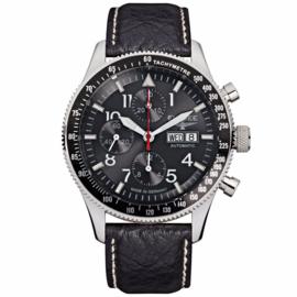 Elysee Zilverkleurig Executive Horloge voor Heren met Zwarte Band