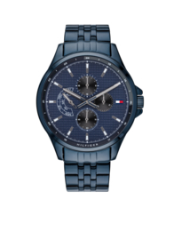 Tommy Hilfiger Horloge Shawn Blauw TH1791618