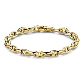 Excellent Jewelry Robuuste Geelgouden Schakelarmband