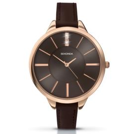 Robuust Roségoudkleurig Sekonda Horloge voor Dames