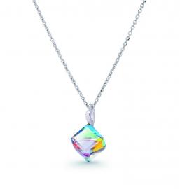 Kubus Regenboog Swarovski Ketting van Spark Jewelry