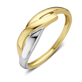Excellent Jewelry Fantasie Ring van Geelgoud met Witgoud
