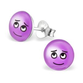 Smiley Oorbellen » Schuldig-kijkend Gezicht met Open Ogen