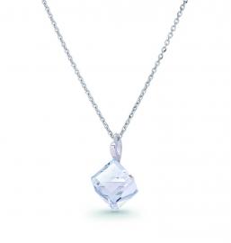 Kubus Transparante Swarovski Ketting van Spark Jewelry