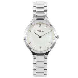 Zilverkleurig Dames Horloge van Edelstaal met Schakelband